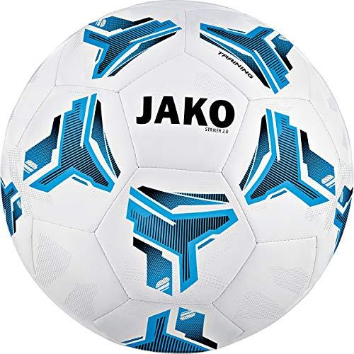 JAKO Striker 2.0 MS Trainingsball, weiß blau/schwarz, 5
