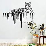 zqyjhkou Tiger Wandtattoos Afrikanische Wild Pride Tiere Aufkleber Designs Art Office Home...