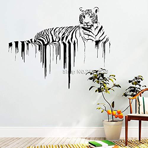 zhuziji Fußball Zitate Wandaufkleber Poster Tiger S Afrikanische Wilde Stolz Tiere S Hause S Lpvc wasserdichte Hintergrund Restaurant, Flur Wandtattoos103x84 cm