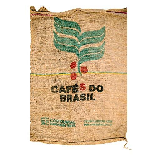 【USED品】 コーヒー豆の麻袋/ドンゴロス麻袋 <約70×95cm> 4枚☆柄おまかせ☆