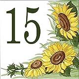 targa in maiolica con numero civico a tua scelta effettuata tramite trasferimento fotografico con 4 strati di vernice anti uv (2 diverse vernici).