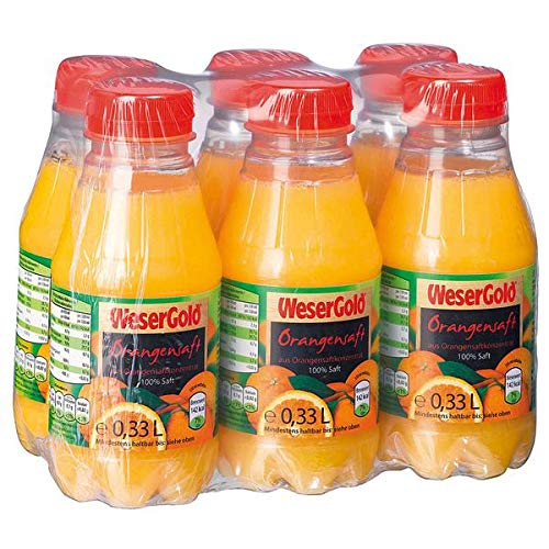 Wesergold Orangensaft, 24er Pack, 24 x 330 ml, Pfandfrei