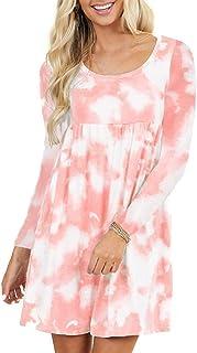 Abito Donna Camicetta Donna Elegante E Confortevole Maniche Lunghe Girocollo Sottile Moda Donna Vestito Autunno E Primaver...