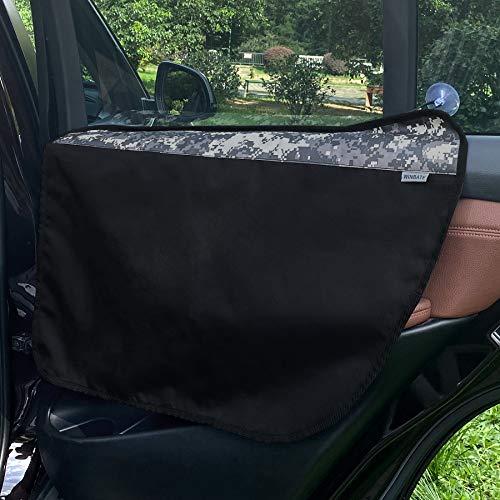 Winbate 2PCS Car Door Protector for Dogs Pet Car Door Cover-Waterproof Scratchproof Nonslip Durable Dog Car Door Protecter, Mechine Washable Pet Vehicle Door Guard (2 Packs Universal Fit)