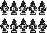 Little Trees Car Freshener, Black Ice, 10-Pack
