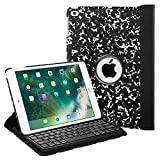 Fintie Keyboard Case for iPad 9.7 inch 2018 2017 / iPad Air 2 / iPad Air - 360 Degree Rotating Stand Cover with Built-in Wireless Bluetooth Keyboard for iPad 9.7' (6th Gen / 5th Gen), Composition Book