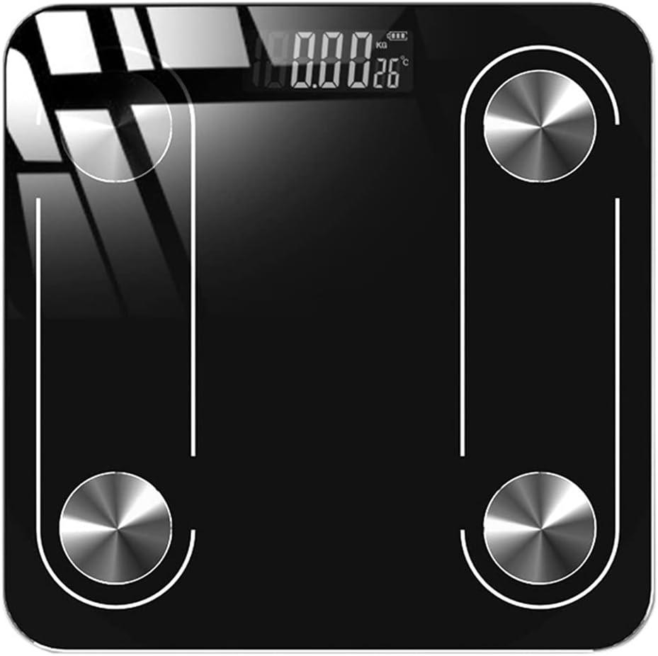 SDLSH Escalas electronicas Escala de Peso Corporal Digital, básculas de baño Monitor de Peso Corporal Escala de Grasas, USB Vidrio Templado de Carga Balanza de Cocina