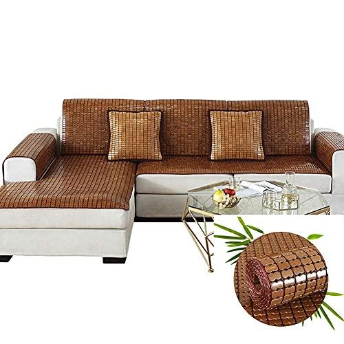 MERCB Schnittsofabezug Bambus Sofakissen Rutschfester Stoff Sommer Kühlmatte Sofakissen Glatt Atmungsaktiv Leicht zu reinigen