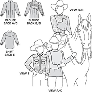 Field's Fabrics Suitability 3361 Womens and Girls Blouse and Childrens Western Shirt Pattern