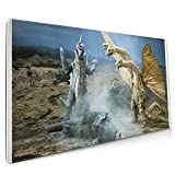 Godzilla Vs Gigan History Extended Gaming Mouse Mat, DIY Custom Professional Mouse Pad (35.5x15.8In),Desk Pad Keyboard Pad Mat, Water-Resistant, Non-Slip Base, For Work & Gaming, Office & Home