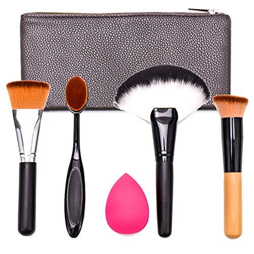 Ensemble Brosse Multifonctions Maquillage Fond De Teint Fibre Artificielle Pinceau Poudre Libre Outil D'éponge De Beauté