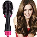 Hair Dryer & Volumizer, Hot Air Brush,3-IN-1 Negative Ions Hair Dryer Hair Straightener& Curly Hair Comb for All Hair Types