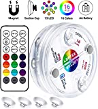 LOFTEK Submersible LED Lights with Magnet,Suction Cup, RF Remote, 13...