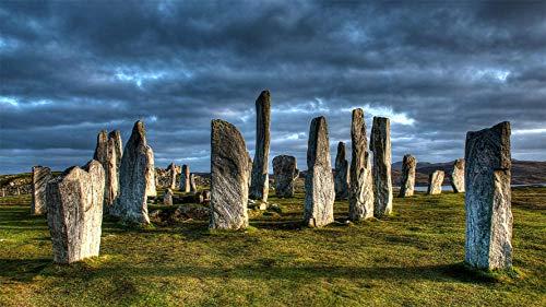 CZYSKY Puzzle 500 Pezzi, Callanish Stonehenge, Louis Island, Scozia, Puzzle Giocattolo in Legno Decorazione D'Interni