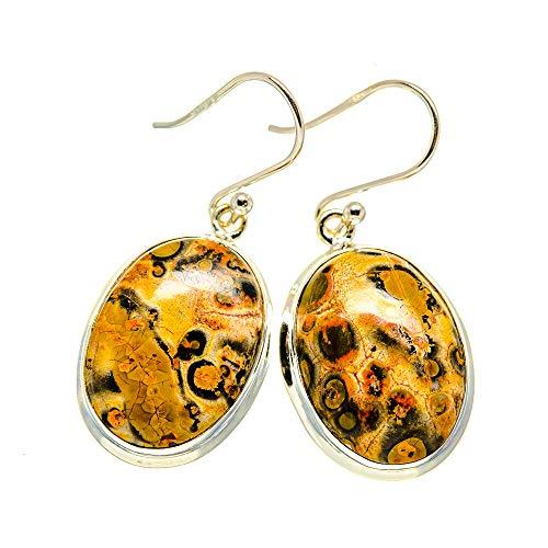 Ana Silver Co Poppy Jasper Earrings 1 1/4' (925 Sterling Silver)