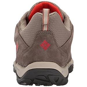 Columbia Women's Dakota Drifter Waterproof Hiking Shoe, Pebble, Poppy Red, 9.5 B US