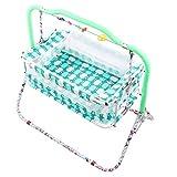VParents Cozy Baby Crib Bassinet cot Swing Cradle (Green)
