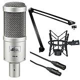 Heil Sound PR 40 Dynamic Cardioid Studio Microphone Bundle with PRSM Shock Mount (Black), PL2T Overhead Studio and Broadcast Boom Mount and Microphone Cable