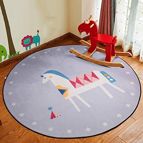 Good thing tapis Ronde Tapis de Bande Dessinée Enfants Couverture Salon Chambre Chambre Chevet Tapis Suspendus Panier Chaise D'ordinateur Mat (taille : Diameter 100cm)