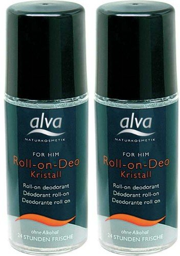 (2er BUNDLE) | Alva for Him Kristall - Deo - Roll On 50 ml | 50ml - Alva