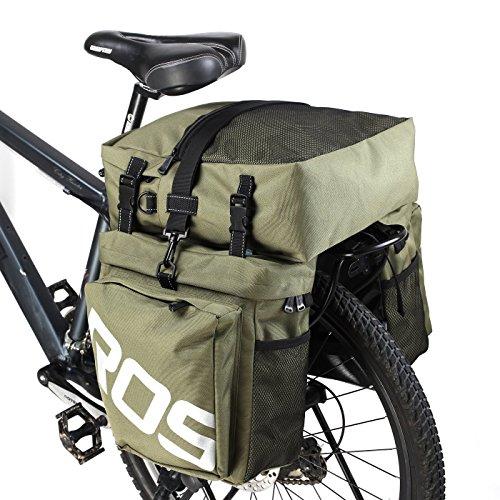 COTEetCI Mountain Bike Bag 3 in 1 Bicycle Pannier Rear Rack Seat Bag/Large Trunk Bicycle Carrier Bag,2 Side Bags + 1 Top Bag