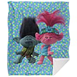 Trolls Blanket, 50'x60', Poppy and Branch Silky Touch Sherpa Back Super Soft Throw