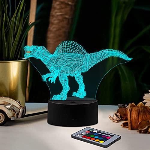 3D Dinosaur Night Light, Ltteaoy Dinosaur Lamp 16...