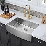 33 inch Stainless Steel Farmhouse Sink, CELAENO Handmade Commercial...