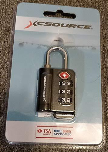 XCSOURCE TSA Blocchetti 1 confezione con indicatore di allarme aperto valigia blocco bagaglio borsa da viaggio lucchetto di sicurezza combinazione a 3 cifre XC402