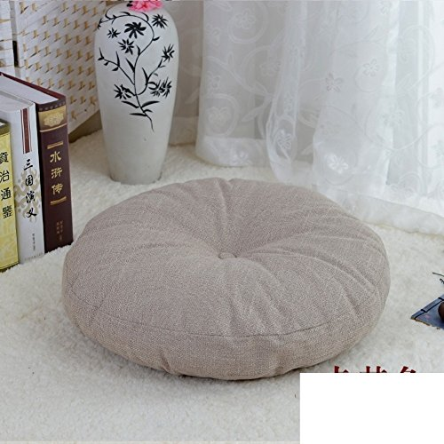 VDEGHSDGHFDDS zitkussen van linnen, verdikte stof, stoelkussen, rond, Japanse tatami-stoel, balkon, tabletten voor ramen diametro50cm(20inch) J