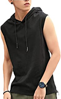 desolateness Men's Sweatshirt Summer Sleeveless Hoodie Solid T-Shirt Tank Top