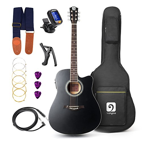Vangoa Acoustic Electric Guitar 41 inch, 4 Band EQ, 6-Steel Strings Electro...