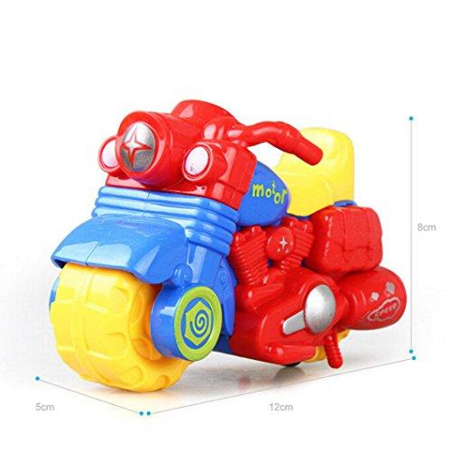 Yeefant Educational Simulated Creative Inertial Motorcycle Children's Dump Model Children Toy Car Pocket Gifts For Kids Living Room Bedroom Bookshelf Decoration