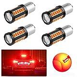 4PCS 1156 (BA15S) 5730 33SMD 12-30V 3.6W Lampadine LED per Auto Super Luminose - Luce di Retromarcia, Luce di Stop, Luce di Posizione, Luce di Direzione - Rosso