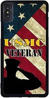 FIDIKO USMC Soldier Marine Corps Veteran US Flag Previous Cases Compatible iPhone Xs Max, Popular Hard Plastic Slim   Anti Slip Phone case Compatible iPhone Xs Max