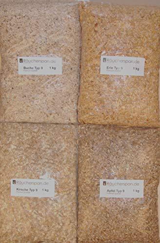 Räucherspäne Räucherchips Apfel, Erle, Kirsche, Buche Typ 9 2-4mm ideal für Smoker Box Barbecue