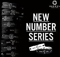 BANDEL バンデル【NUMBER BRACELET】ナンバーブレスレット リバーシブルモデル【正規品】ブラック/ホワイトリバーシブル・No.1〜No.9・パワー加工・ジャパンテクノロジー (No.5, L 19.0cm)