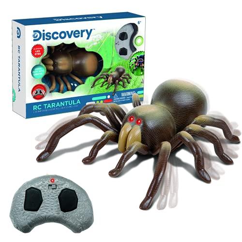 Discovery IR Tarántula radiocontrol, RC, Animal Realista, Juguetes niño 8 años, Infrarrojos, teledirigido (World Brands 6000376)