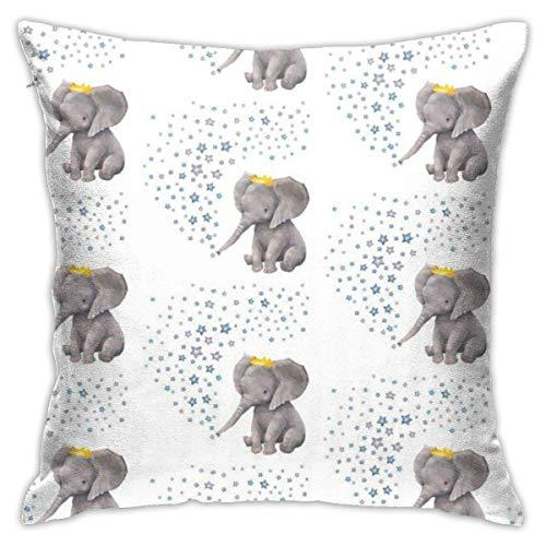 Ives Jean Kissenbezug Baby Boy Elephant Wit Kissenbezug Home Decor Square Kissenbezug, 18x18 Zoll Kissenbezug