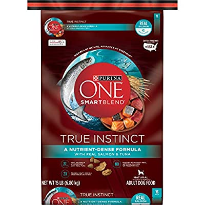 Purina ONE High Protein Natural Dry Dog Food, SmartBlend True Instinct With Real Salmon & Tuna - 15 lb. Bag