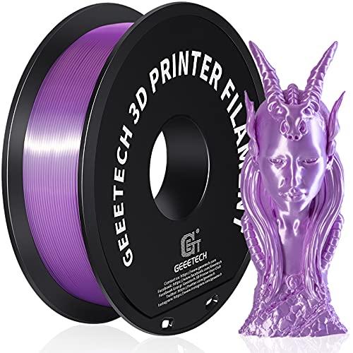 GEEETECH PLA filamento 1.75mm Seda Púrpura, 3d filamento PLA para impresora 3D 1kg carrete