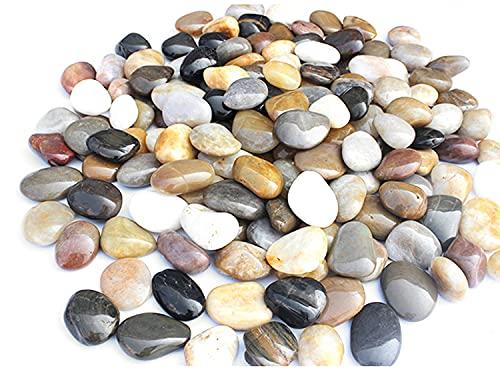 Guijarros Decorativos naturales Piedras decorativas pulidas Guijarros naturales Grava para piedras...