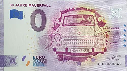 0-Euro-Schein 30 Jahre Mauerfall (2020-2) Deutschland Souvenir Null Euro € Sammler