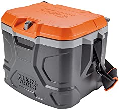 Klein Tools 55600 Work Cooler, 17-Quart Lunch Box Holds 18 Cans, Keeps Cool 30 Hours, Seats 300 Lb, Tradesman Pro Tough Box