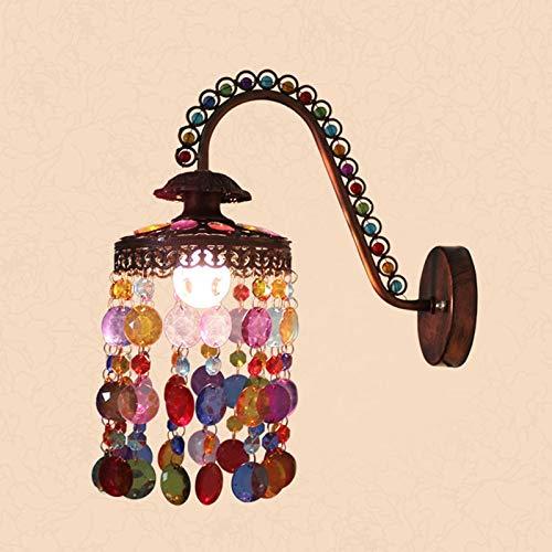 WOOU Moderno Adornado Tambor Shabby Chic Techo Colgante de luz Brillante Techo Colgante de luz Colgante de luz, Metal Cobre (Color : White)