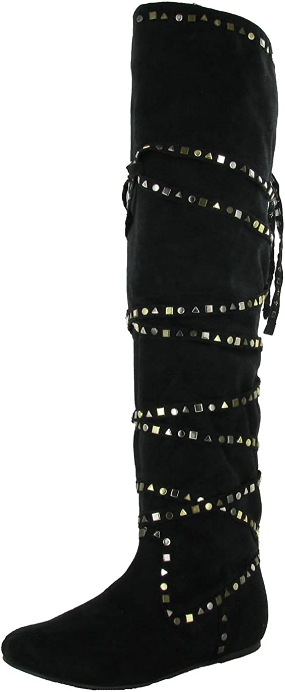 Not Rated Women's Metal 2 Boot Studded 安心と信頼 気質アップ Shop
