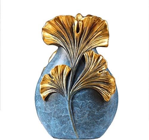 JHSHENGSHI American Ginkgo Leaf Jarrón Hogar Sala de Estar Creativa Mueble de...