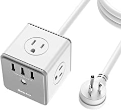 Huntkey 4 Outlets Surge Protector, 3 USB Ports 5V/2.4A, 5-Foot Heavy Duty Extension Cord, SMC407