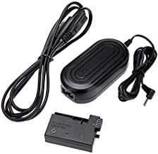 New AC 100-240V Power Adapter with DC Coupler Cable Kit for Canon EOS 550D/600D/650D/Kiss X4/X5/X6 Rebel T2i/T3i/T4i - Replacement for ACK-E8, US Plug