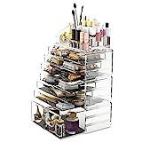 Scatola cosmetici trucchi e makeup con 12 cassettiere (trasparente)...